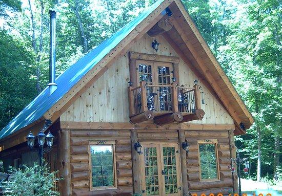 Grenville-sur-la-Rouge, Canada: location chalets au lac pointe au chêne, chalet en bois rond , chalet pièce sur pièce , chalet champêtre havre de paix , magnifique vue sur le lac et les montagnes ,
