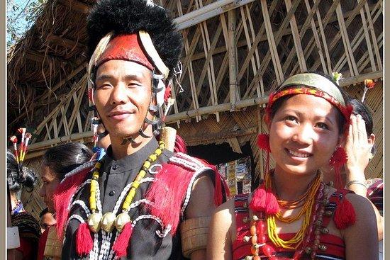 Nagaland tribale e montagne con profonde vallate