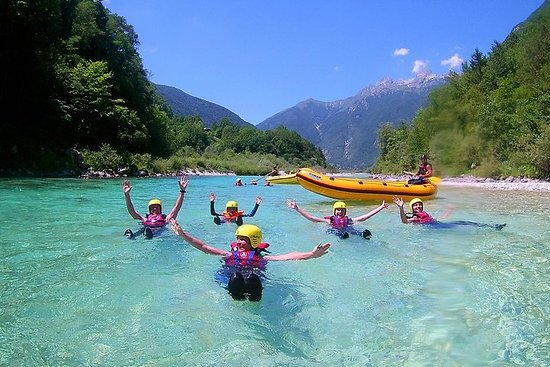 Family Rafting On Soca River
