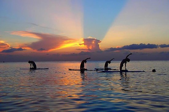 Yoga Paddle Aqua Zen, yoga on a floating carpet in connection with...
