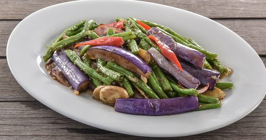 Signature dishes (Brinjal with Long Bean)