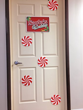"The door to our ""Crazy Christmas Heist"" escape room!"