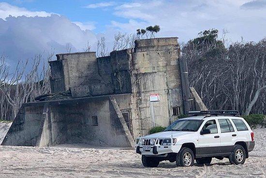 Fort Bribie Bunker og Beach 4WD Tour