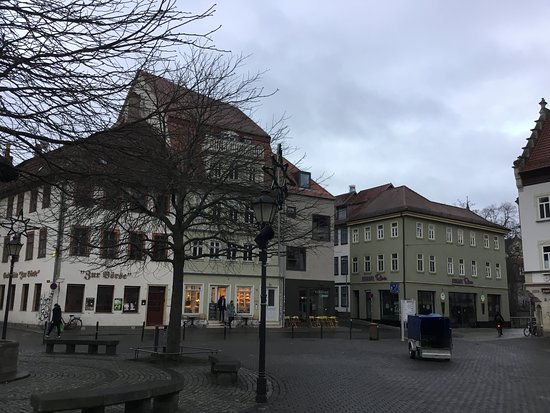 Another corner of the square.