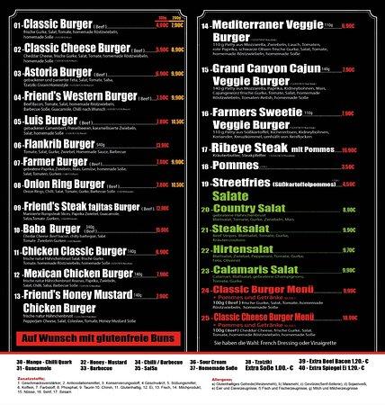 Gutes frische Burger & Steaks & Salate Gemütliches Ambiente