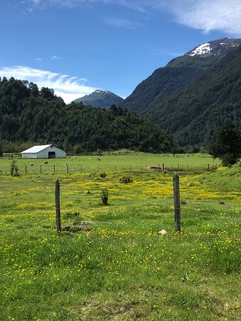 The farm setting where we had lunch in Patagonia