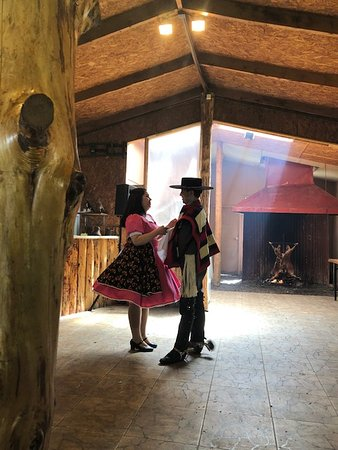 Dancers at the lunch and show on the farm in Patagonia