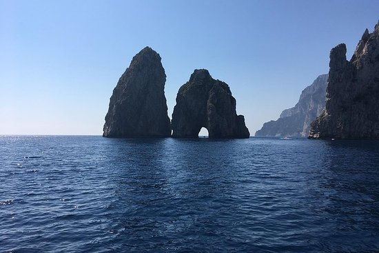 Capri and Blue Grotto by Gozzo Boat and...