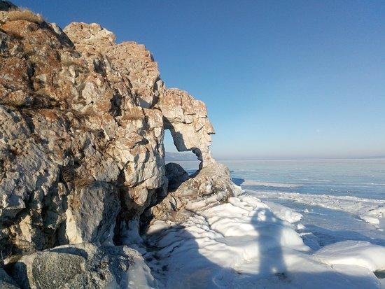 Irkutsk Oblast, Rusija: Lake Baikal. Ise winter.