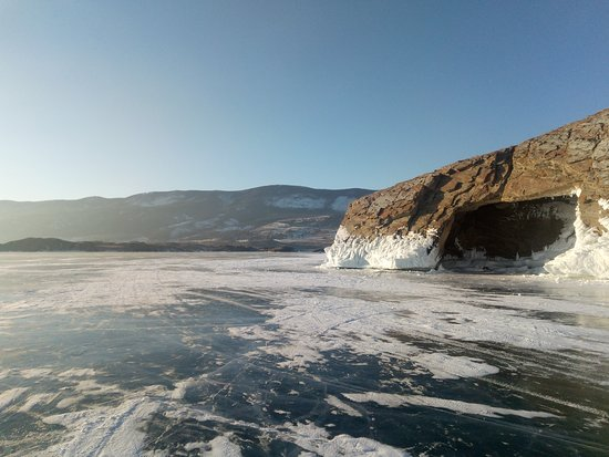 Russia, Огайо: Lake Baikal. Ise winter. Nearly the Olkhon island.
