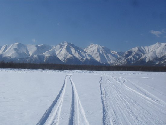 Siberian District, Russia: Winter roud of baikal
