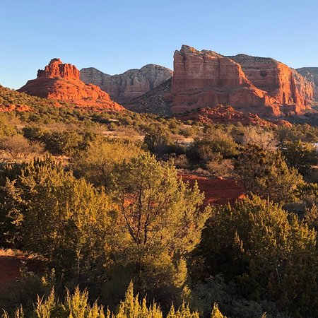 view from coconino room of bell rock