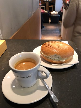 Black Bean - espresso and bagel