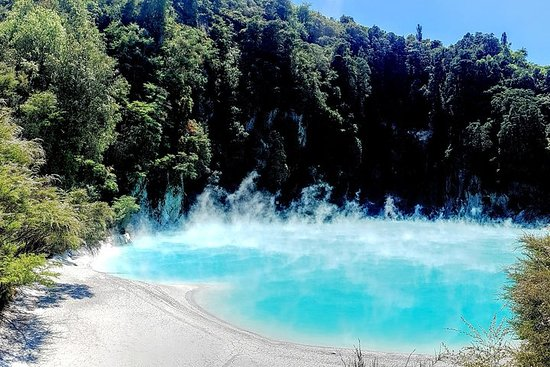 Rotorua dagstur; Waimangu Volcanic Valley and the Blue Spring