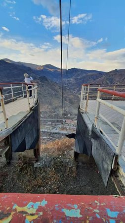 Full-Day Tour to Armenia from Tbilisi with Traditional Lunch: abandoned cable car station