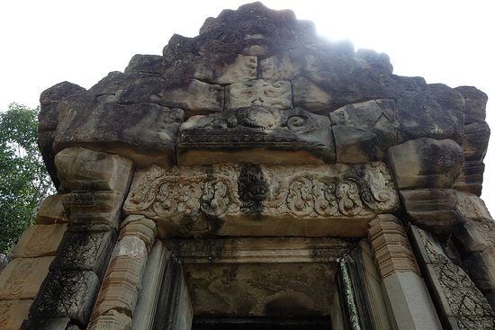 The carving of main door of royal palace.