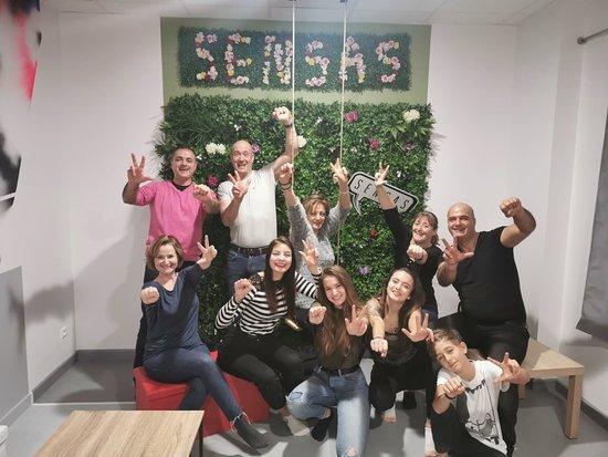 Sausheim, Frankrike: Famille