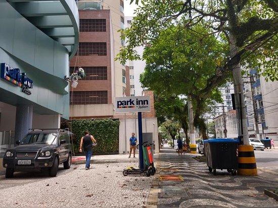 Calçada do Radisson em Santos
