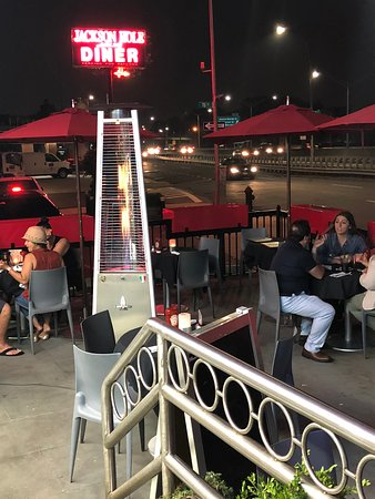 Outdoor seating is always available.