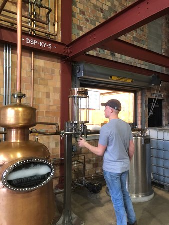 Guided Tour of James E. Pepper Distillery Ticket: Checking the high wine