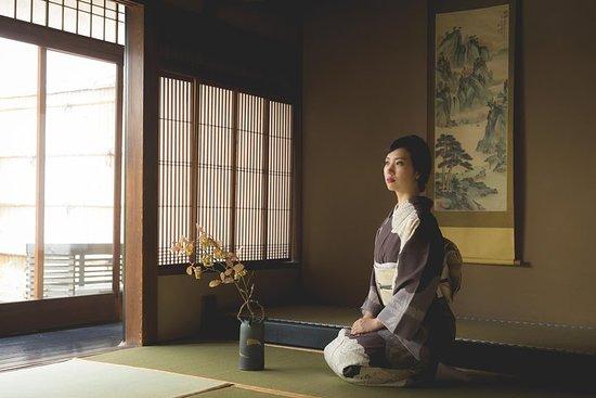 Kimono en images dans une maison...