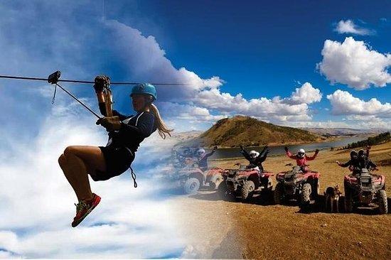神圣山谷周围的ATV越野摩托车游览Zip Line&Moray,Maras...