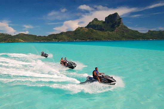 Recorrido en moto de agua en Bora Bora