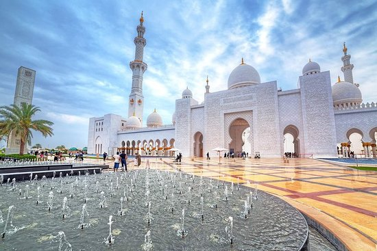Sheikh Zayed Grand Mosque Tour von Dubai
