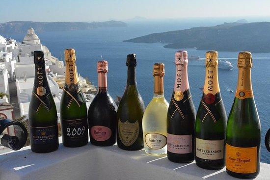 Experiencia de Santorini Champagne...
