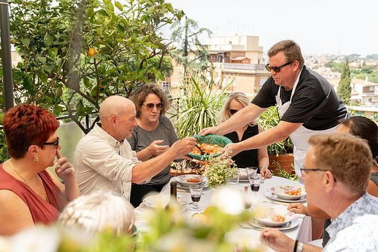 Lunch or dinner and cooking demo at a local home in Ancona