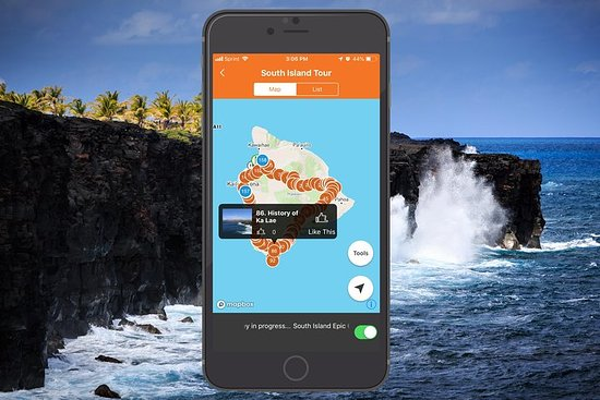 Big Island - South Island Coastal Loop Kjøre Tour App