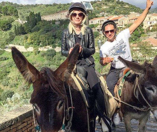Tour des ânes parrain et village...