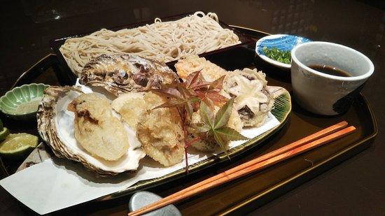 広島牡蠣と冬野菜の天麩羅セット
