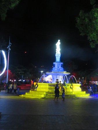 Autre éclairage de la fontaine céleste