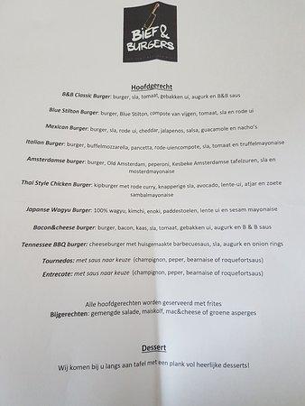 Dit was het uiteindelijke aangepaste menu ivm een gezelschap van meer dan 15 personen, op ons verzoek zonder de prijzen erbij.