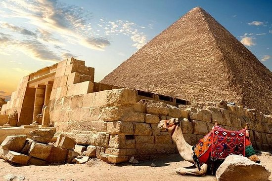 Pyramider av Giza Egyptian Museum...