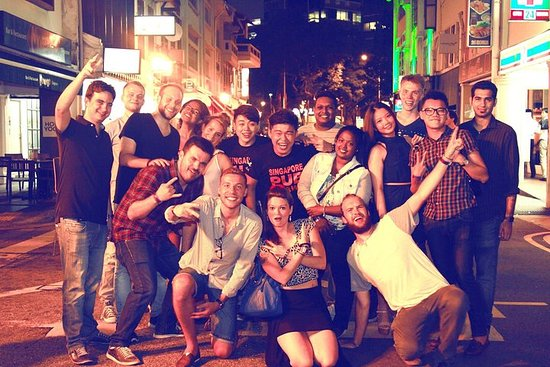 Rastejamento De Bar De Singapore