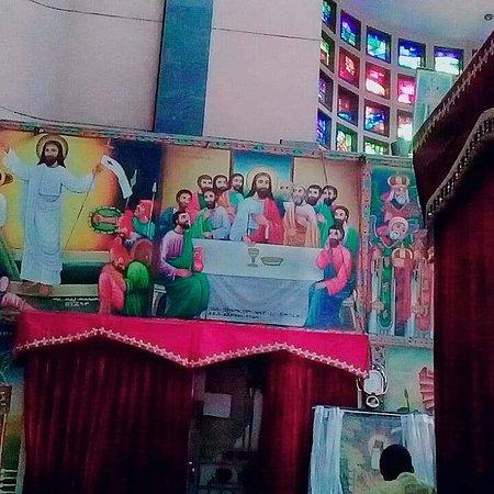A day trip to Debrelibanos Monastery and the Portuguese Bridge: The Last Supper  painting inside Debrelibanos Church