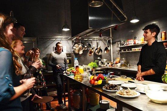 Experiência interativa de culinária...