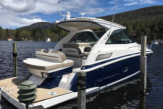 Boat Scenic Lake George on a 37' Luxury Cruiser