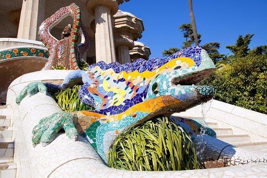優先入場ガイド付きウォーキングツアー:バルセロナのガウディのグエル公園