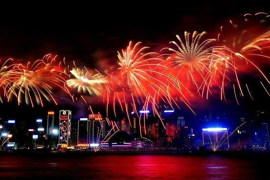 Crociera di fuochi d'artificio cinesi