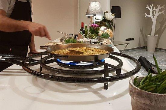 Expérience de showcooking paella...