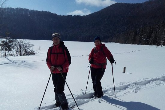Snowshoeing in the Land of Volcanoes