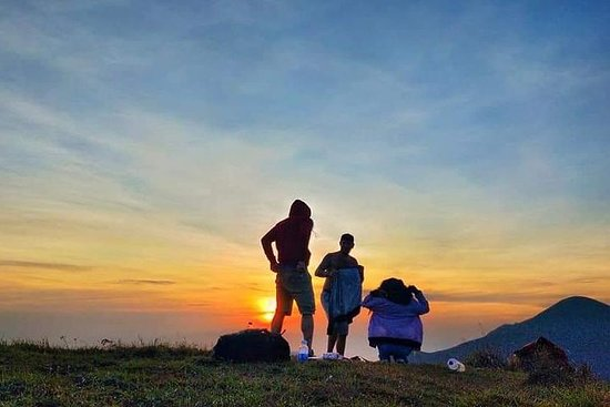 Pergasingan bakke soloppgang starter fra Sembalun Village 5 timers...