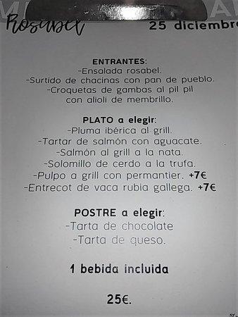 La Calahorra, Espagne : Esta carta es válida para el día 25 de diciembre, aunque hay otra carta similar par el día 1 de enero