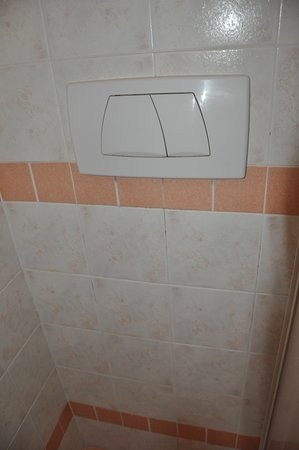 Spłuczka ubikacji znajduje się pod prysznicem!