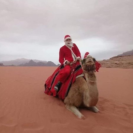 I wish a merry Christmas to all people from wadi rum