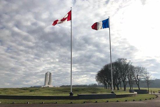 来自巴黎的Arras和Vimy Ridge WW1战场的小团体一日游