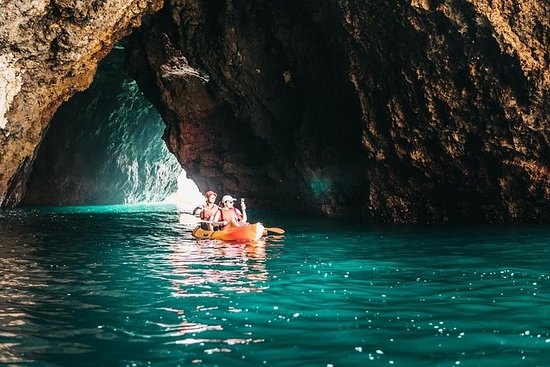 Kajak - grotten tour